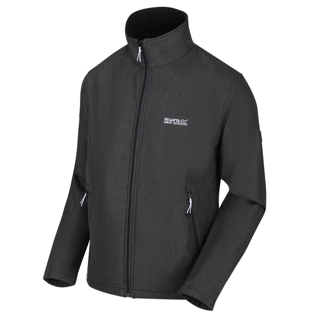 Black Marl - Front - Regatta Mens Cera IV Softshell Jacket