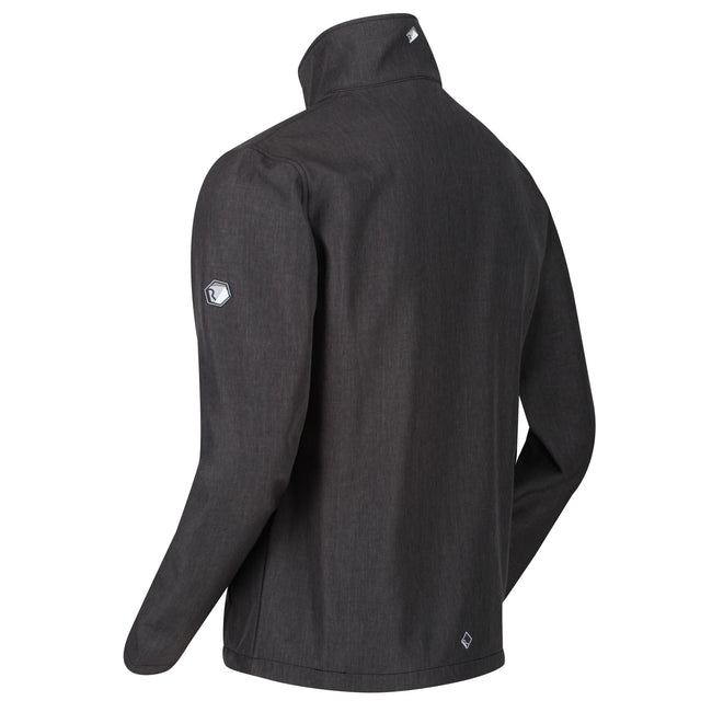 Black Marl - Back - Regatta Mens Cera IV Softshell Jacket