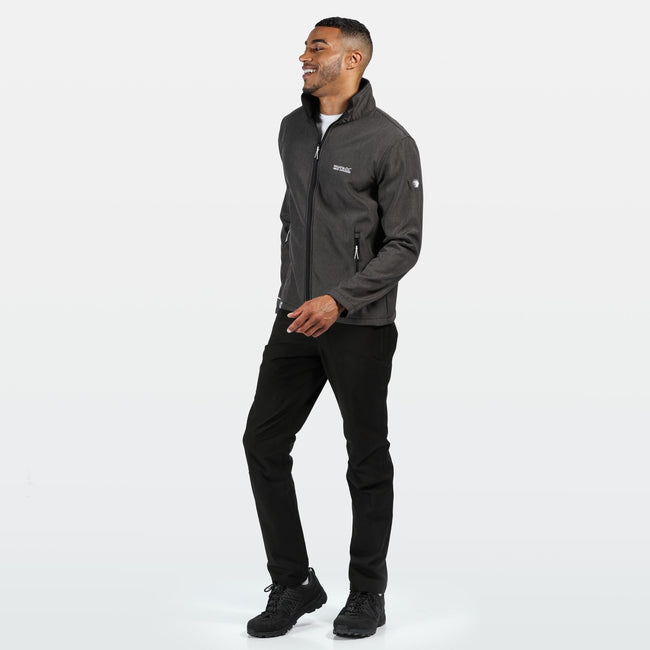 Black Marl - Side - Regatta Mens Cera IV Softshell Jacket