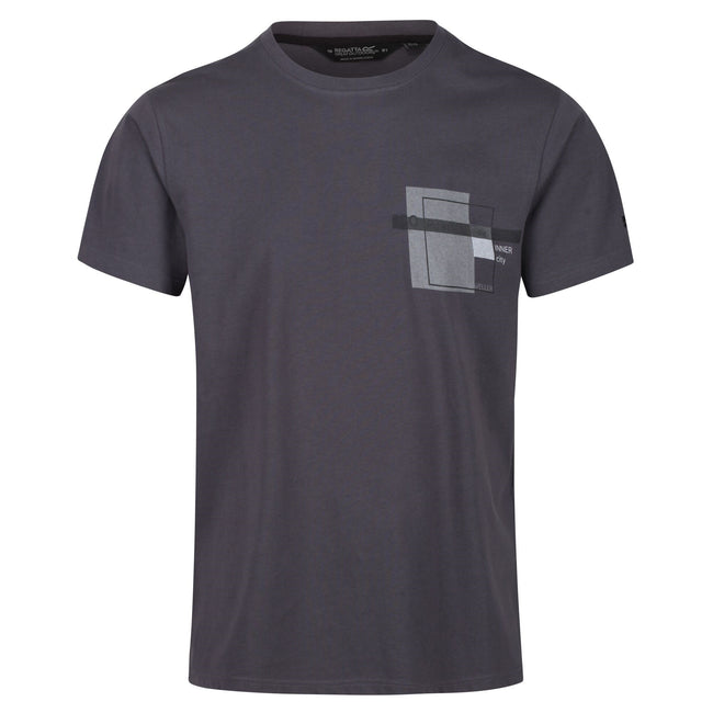 Seal Grey - Front - Regatta Mens Cline IV Graphic T-Shirt