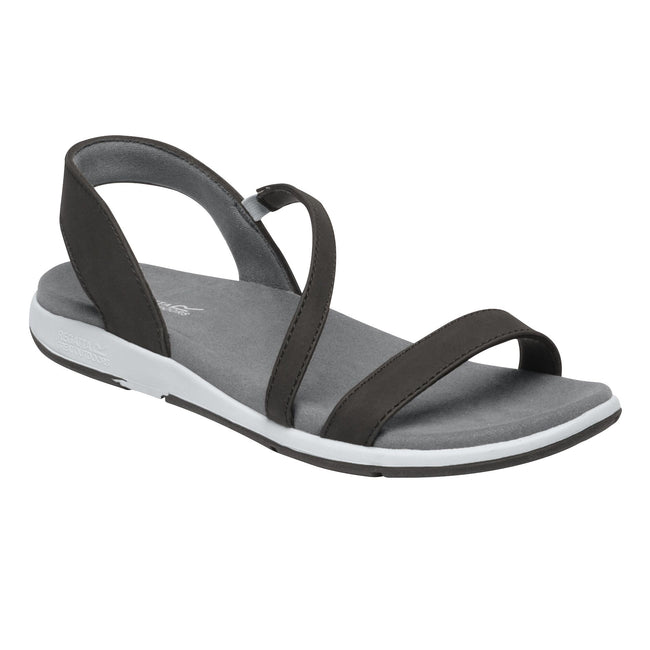Black-Light Steel - Front - Regatta Womens-Ladies Santa Louisa Sandals