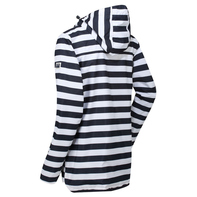 Navy Stripe - Front - Regatta Womens-Ladies Bertille Waterproof Jacket
