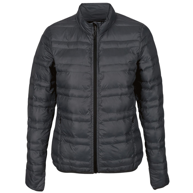 Seal Grey - Front - Regatta Womens-Ladies Firedown Baffled Quilted Jacket