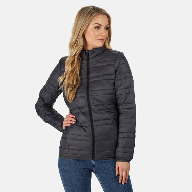 Seal Grey - Back - Regatta Womens-Ladies Firedown Baffled Quilted Jacket