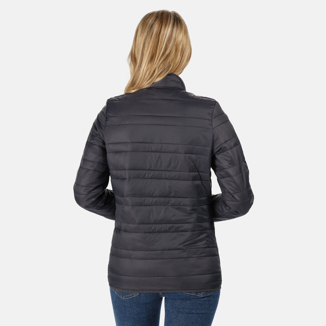 Seal Grey - Side - Regatta Womens-Ladies Firedown Baffled Quilted Jacket