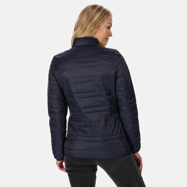 Navy-French Blue - Side - Regatta Womens-Ladies Firedown Baffled Quilted Jacket