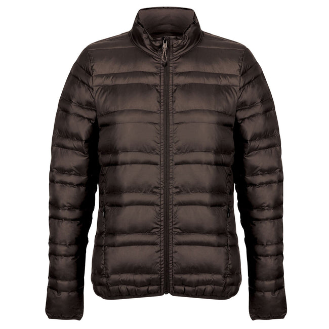 Black - Front - Regatta Womens-Ladies Firedown Baffled Quilted Jacket
