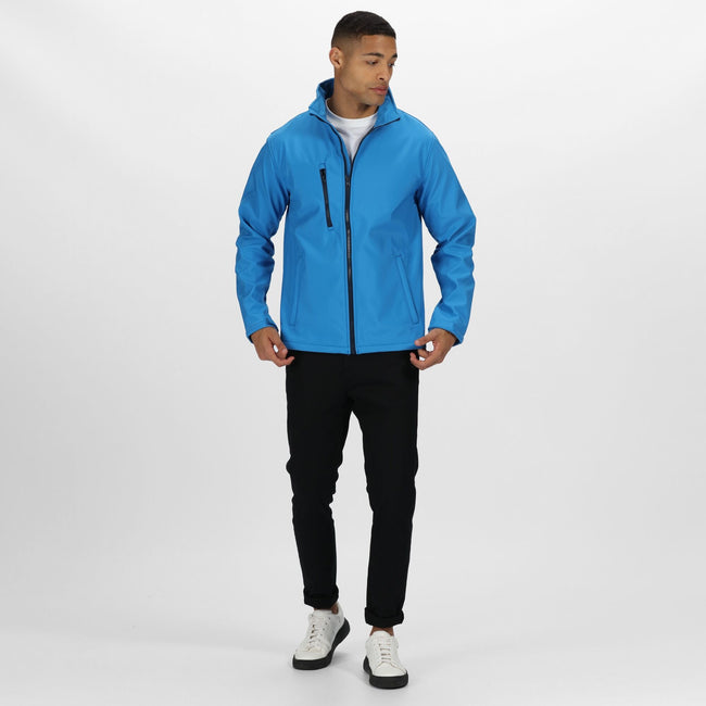French Blue - Front - Regatta Mens Ablaze 3 Layer Softshell Jacket