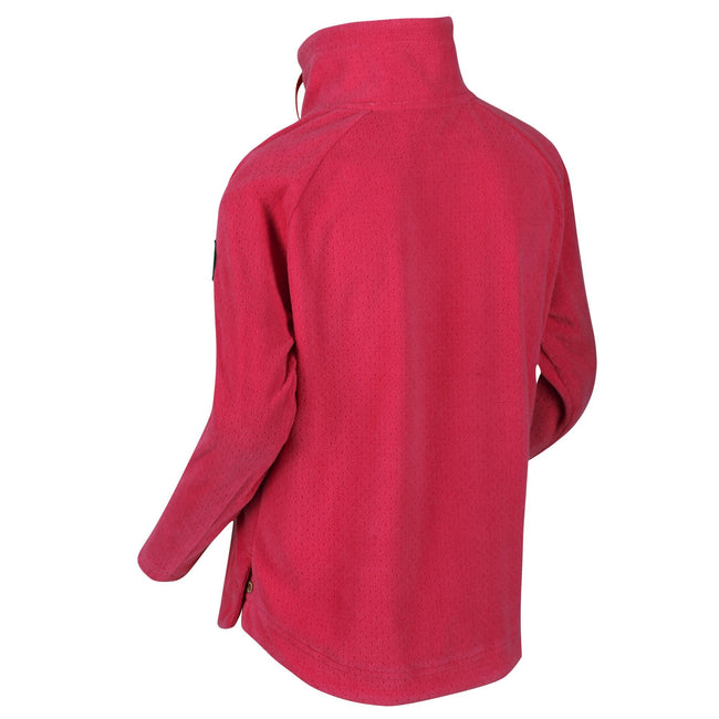 Duchess Pink - Back - Regatta Girls Harika Funnel Neck Fleece