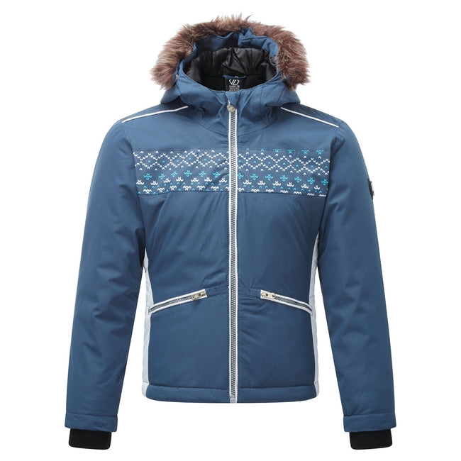 Dark Denim - Front - Dare 2B Girls Far Out Ski Jacket