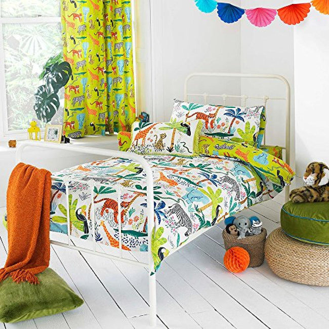 Multicolour - Front - Riva Home Jungletastic Duvet Cover Set