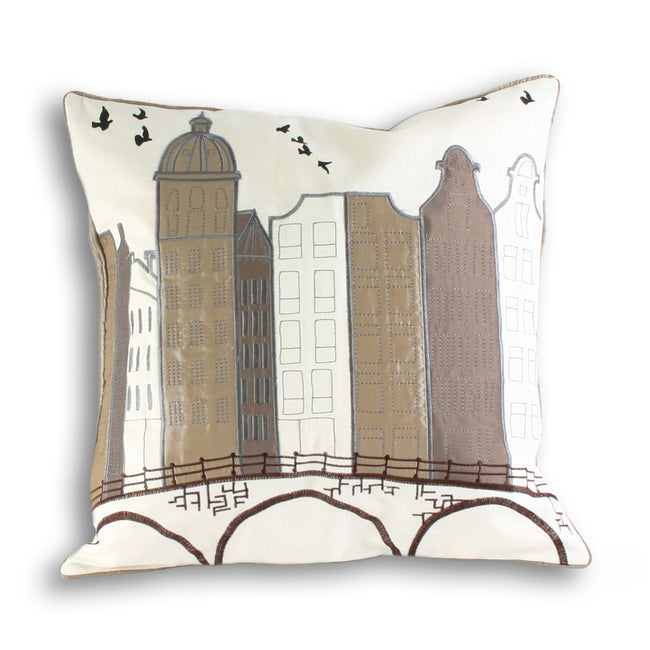 Sand - Front - Riva Home Amsterdam Cushion Cover