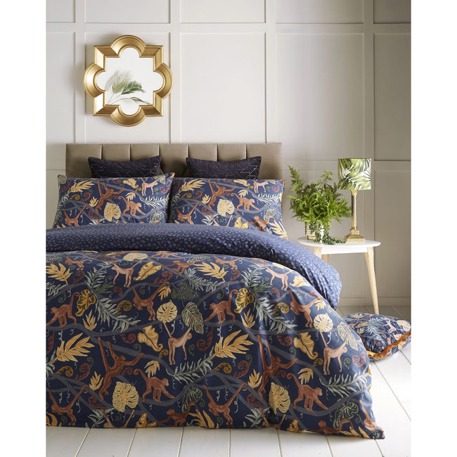 Midnight Blue - Front - Furn Monkey Forest Duvet Cover Set