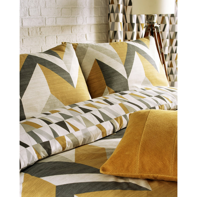 Charcoal-Gold - Side - Furn Renovate Duvet Cover Set