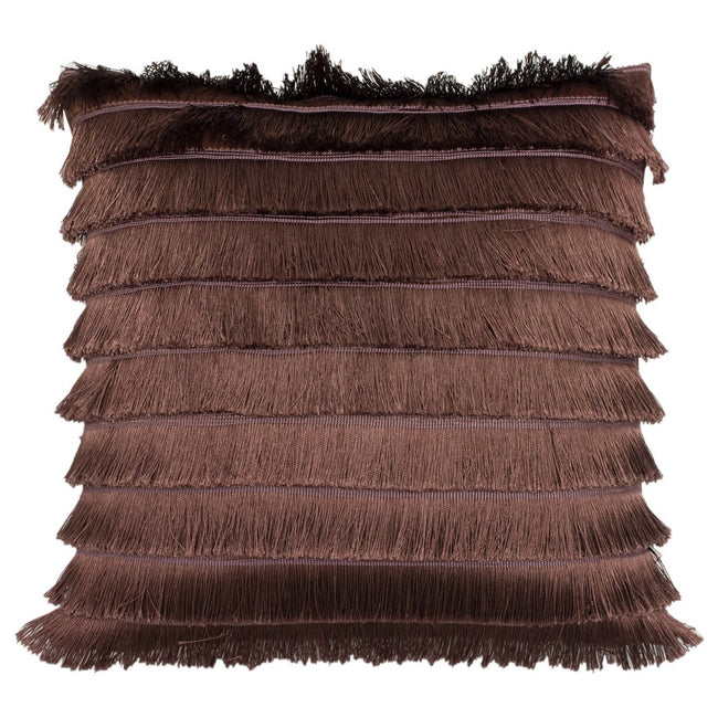 Rock Rose - Front - Furn Flicker Tiered Fringe Cushion Cover