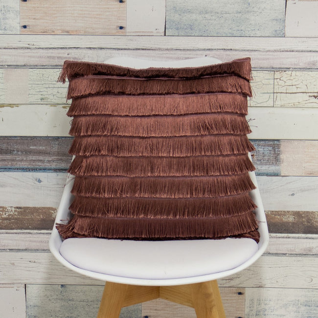 Rock Rose - Lifestyle - Furn Flicker Tiered Fringe Cushion Cover