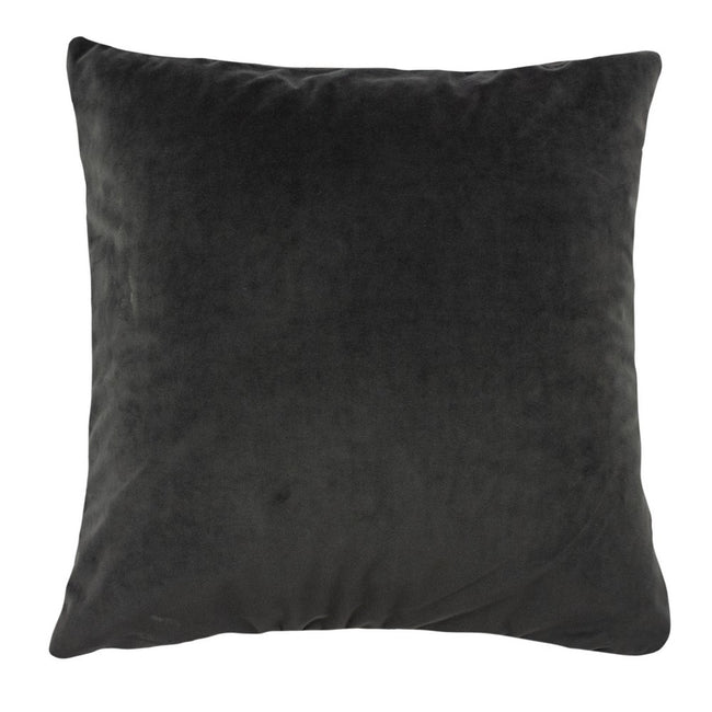 Graphite - Back - Furn Flicker Tiered Fringe Cushion Cover
