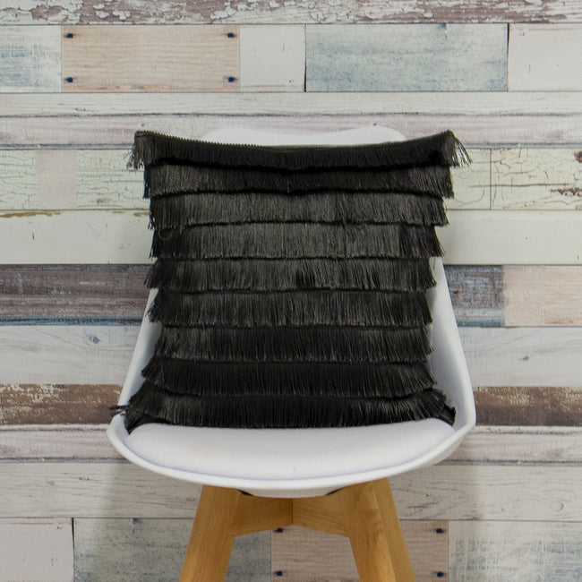 Graphite - Lifestyle - Furn Flicker Tiered Fringe Cushion Cover