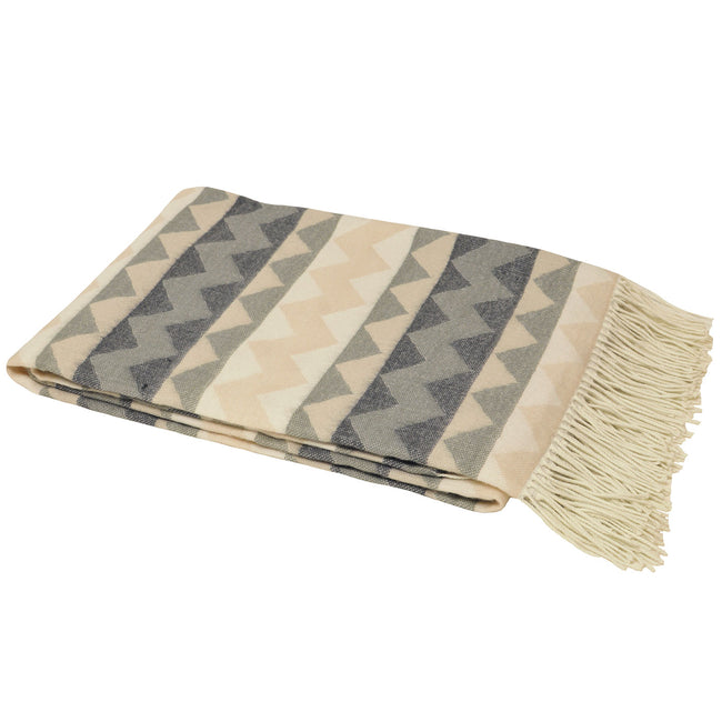 Taupe - Front - Riva Home Aztec Pattern Throw