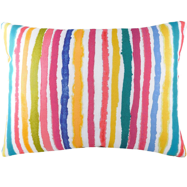 Multicoloured - Front - Evans Lichfield Aquarelle Striped Cushion Cover