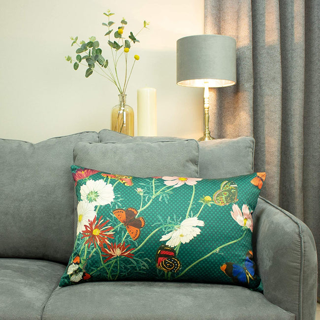 Emerald Green - Back - Paoletti Wild Fauna Cushion Cover