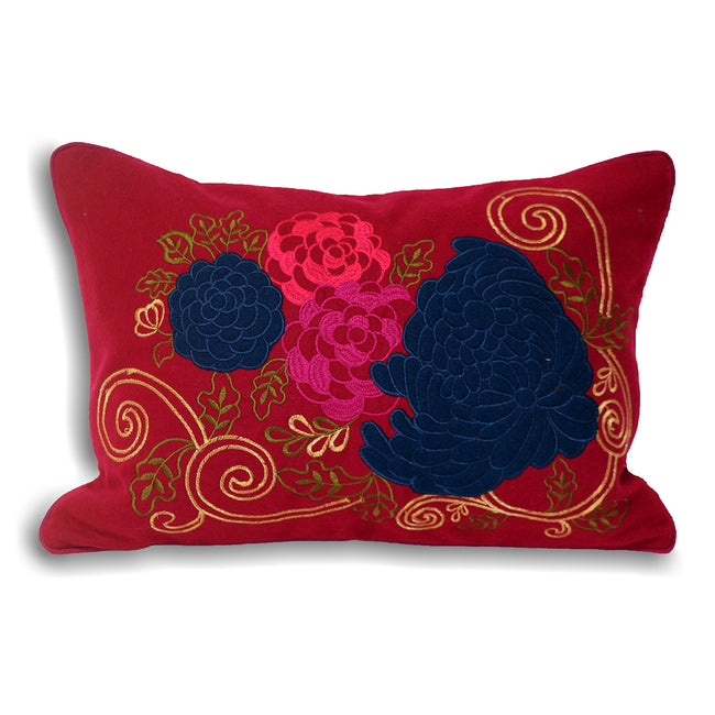 Damson-Blue - Front - Riva Home Emelia Cushion Cover