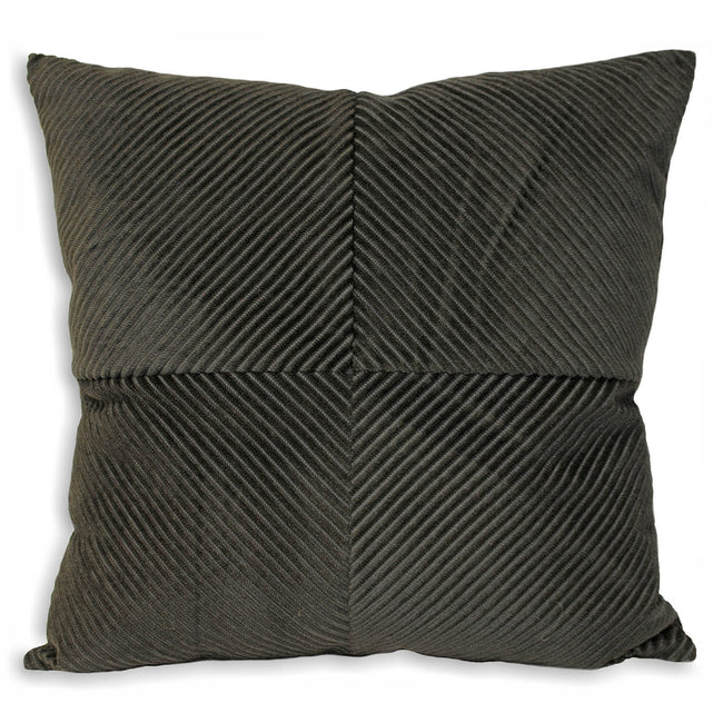 Charcoal - Front - Riva Home Infinity Cushion Cover