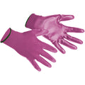 Pink - Back - Portwest PU Palm Coated Gloves (A120) - Workwear
