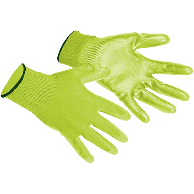 Yellow - Back - Portwest PU Palm Coated Gloves (A120) - Workwear