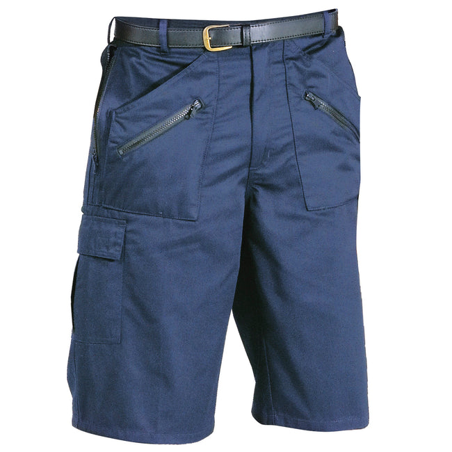 Dark Navy - Front - Portwest Mens Action Shorts (S889)