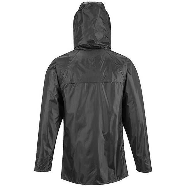 Black - Back - Portwest Mens Classic Rain Jacket (S440)