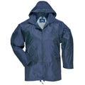 Navy - Front - Portwest Mens Classic Rain Jacket (S440)