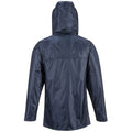 Navy - Back - Portwest Mens Classic Rain Jacket (S440)