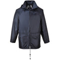 Navy - Side - Portwest Mens Classic Rain Jacket (S440)