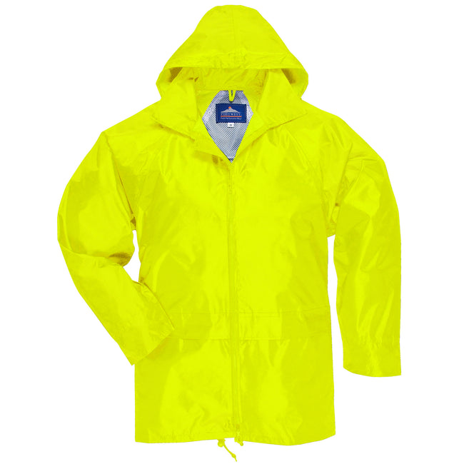 Yellow - Front - Portwest Mens Classic Rain Jacket (S440)