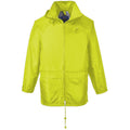 Yellow - Side - Portwest Mens Classic Rain Jacket (S440)