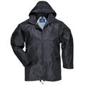 Black - Front - Portwest Mens Classic Rain Jacket (S440)