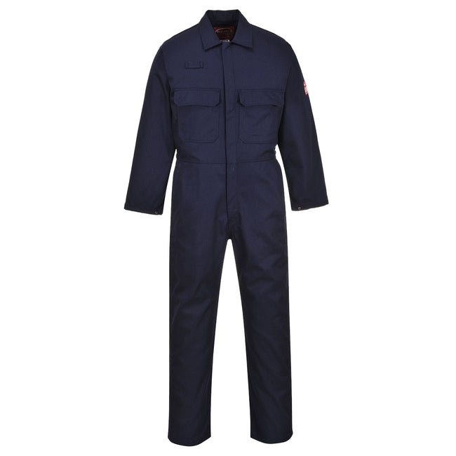 Navy - Front - Portwest Mens Bizweld Flame Retardant Coverall - Workwear