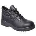 Black - Front - Portwest Unisex Steelite Protector Safety Boot S1P (FW10) - Workwear