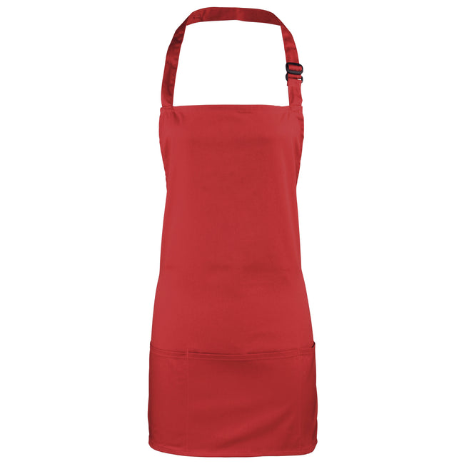 Red - Front - Premier Colours 2-in-1 Apron - Workwear