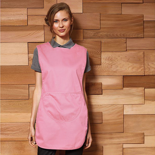 Pink - Back - Premier Ladies-Womens Pocket Tabard - Workwear