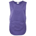 Purple - Front - Premier Ladies-Womens Pocket Tabard - Workwear