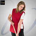 Red - Back - Premier Ladies-Womens Pocket Tabard - Workwear