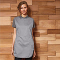 Silver - Back - Premier Ladies-Womens Pocket Tabard - Workwear