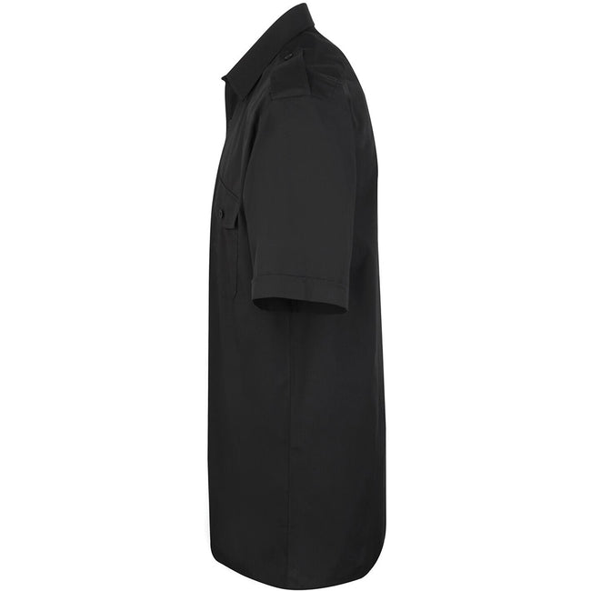 Light Blue - Front - Premier Mens Short Sleeve Pilot Plain Work Shirt