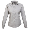 Royal - Back - Premier Womens-Ladies Poplin Long Sleeve Blouse - Plain Work Shirt