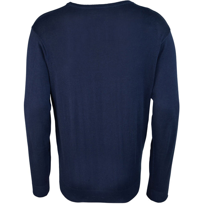 Purple - Front - Premier Mens V-Neck Knitted Sweater
