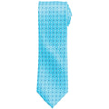Turquoise - Front - Premier Mens Mini Squares Fashion Tie