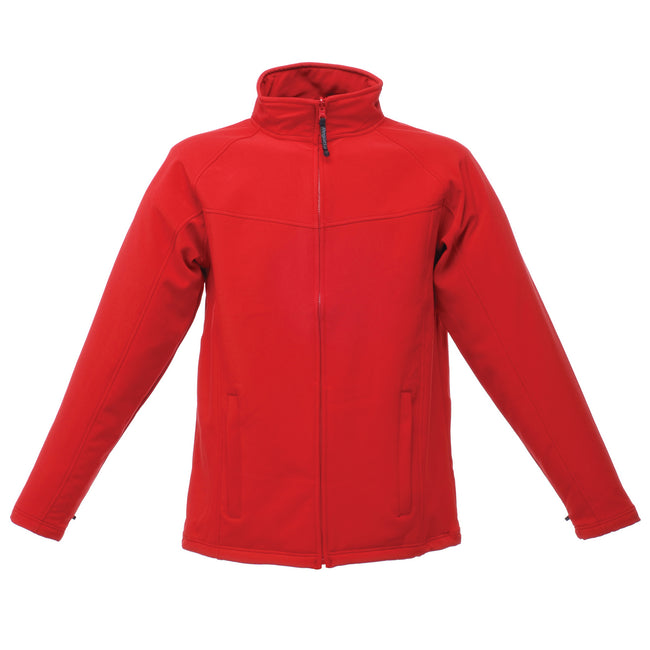 Classic Red-Seal Grey - Front - Regatta Mens Uproar Lightweight Wind Resistant Softshell Jacket