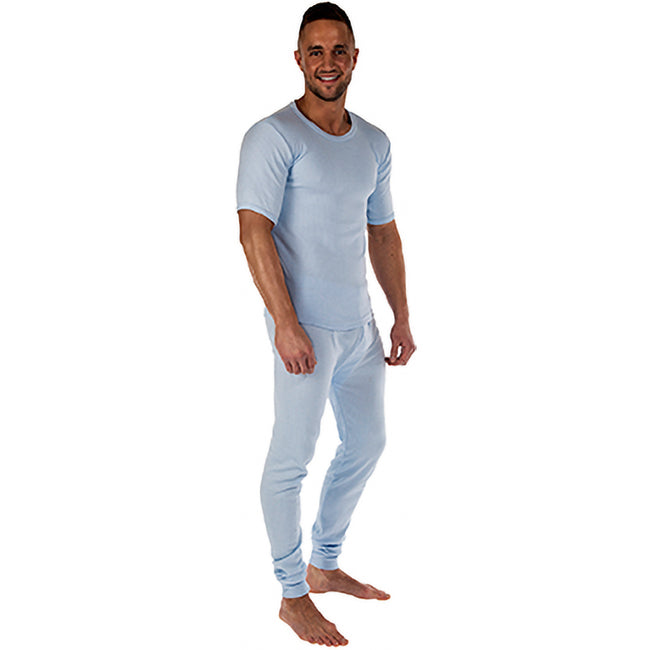 Blue - Front - Regatta Mens Thermal Underwear Long Johns